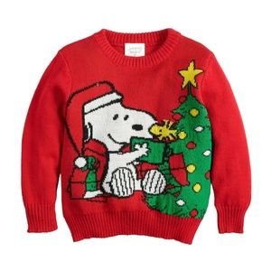 JUMPING BEANS 3T/4T Peanuts Snoopy Sweater NWT